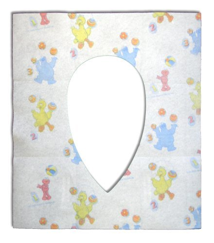 Sesame Street Potty Topper Disposable Stick-in-Place Toilet Seat Covers, 40 Count