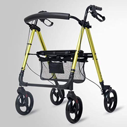 Y-L Gehandicapten Ouderen Lichtgewicht Vouwen Verstelbare Booster, Winkelwagen, Aluminium Winkelwagen, Ouderen Fiets
