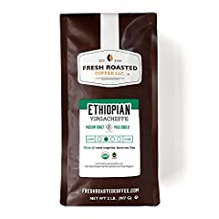 OUR ORGANIC ETHIOPIAN YIRGACHEFFE COFFEE IS AN ABSOLUTE FAVORITE With Notes of Bright Citruses And A Sweet Lemon Tea Finish. USDA ORGANIC. FAIR TRADE CERTIFIED. Single-Origin From Gedeo Zone, Ethiopia. Wash Processed & Dried On Raised Beds. Medium Ro...