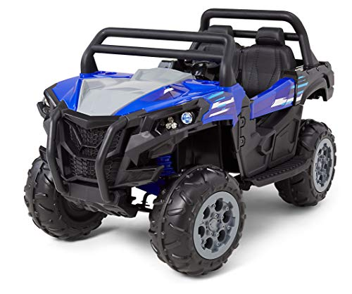 Kid Trax UTV Toddler/Kids Electric Ride On Toy, 12 Volt, 3-7 yrs Old, Max Weight 110 lbs, Single or Double Riders, MP3 Player Input, Blue
