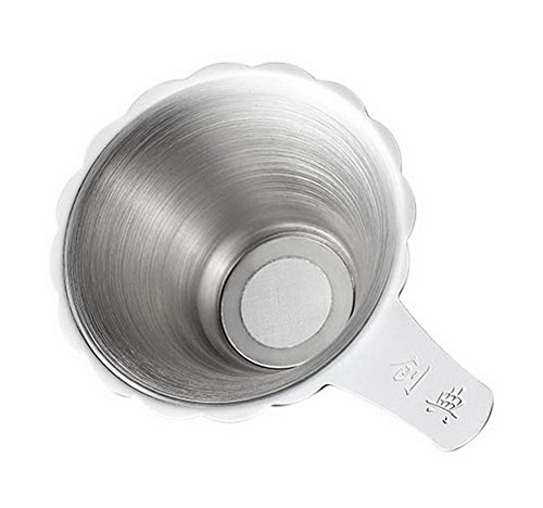 Spicy Meow Accessoire d'entonnoir de thé de Kung Fu de Filtre d'acier Inoxydable, Filtre à thé argenté de Bord