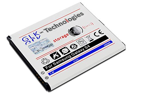 High Power Ersatzakku für Samsung Galaxy S4 NFC i9500 & LTE i9505   Original GLK-Technologies Battery   accu   2600 mAh Akku   NEU