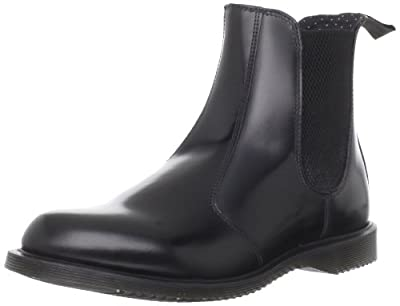 Dr. Martens Women's Leather Flora Chelsea Boot, Black, 5 UK/7 US