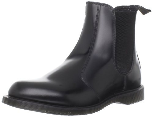 Dr. Martens Damen Flora Polished Smooth Chelsea Boots, Schwarz (Black), 41 EU