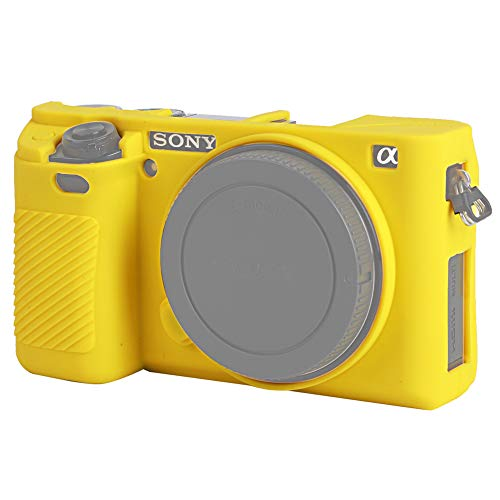 Easy Hood Case for Sony Alpha A6000 ILCE-6000 Digital Camera, Anti-Scratch Soft Silicone Housing Protective Cover Protector Skin (Yellow)