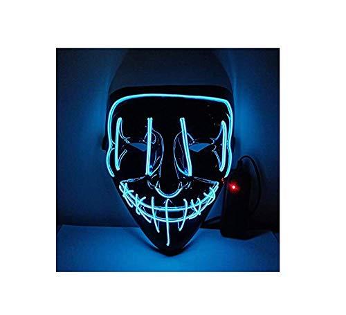 ERTY&OMB Halloween Maske Maske Halloween Party Maskerade Maske Neon Maske Leuchtende Wimperntusche...