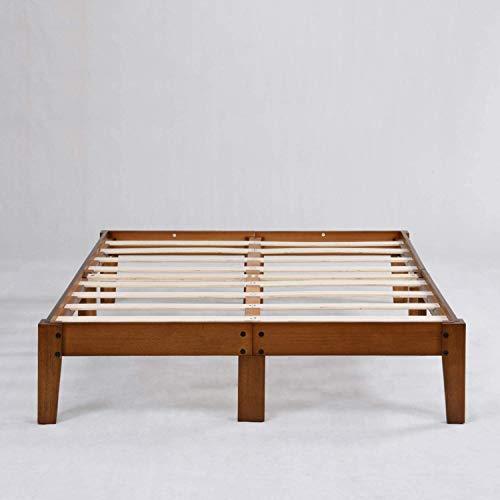 Home - massiv Holzbett 140x 200 cm | Bettrahmen mit Lattenrost | Family Bed Frame