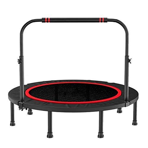 Dbtxwd 48-Inch Adult Mini Fitness Trampoline, Portable with Adjustable Armrests, Load of 300 Kg Indoor Trampoline