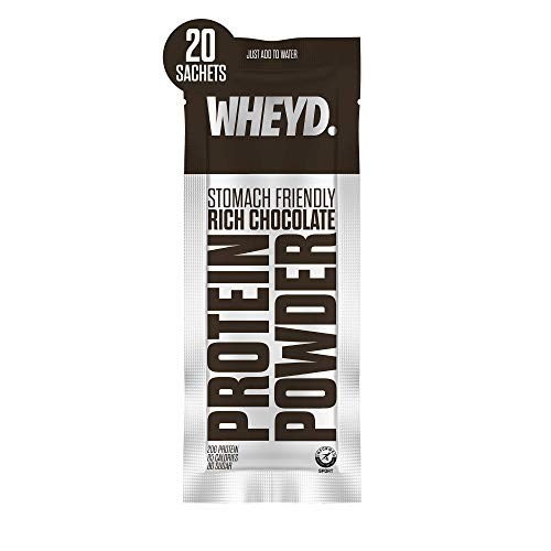 WHEYD Protein Powder Sachets - Grass Fed Hydrolysed Whey Isolate - Rich Chocolate (Box of 20 x 24g Servings, Low Lactose & Stomach Friendly)