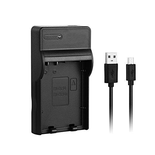 [Cargador rápido] Cargador rápido USB EN-EL14a para Nikon ENEL14 / EN-EL14a Batería de...