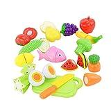 Tenlacum Creativo Juego de Juegos Juguetes Cocina Frutas Vegetales Rebanada Alimentos Corte Juguete #A