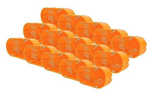 15 Stk Schalterdosen Gerätedosen Hohlwanddosen IP30 Unterputz 136x68x47mm
