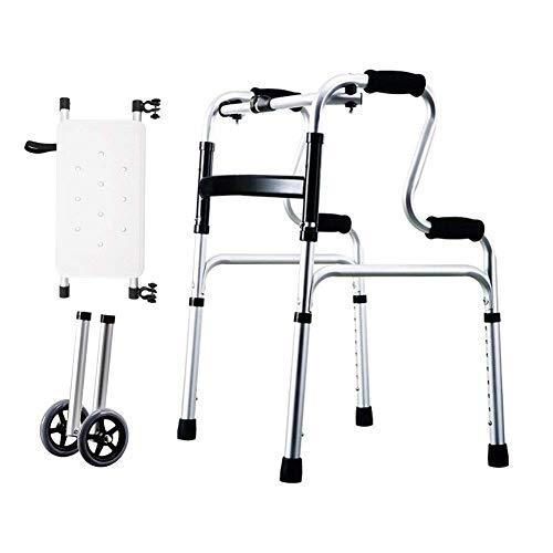 PAKUES-QO Andador De Ruedas Ligero Andador Auxiliar Andador para Ancianos, Discapacitados Aleación De Aluminio Capacidad De Carga Máxima 400 Libras