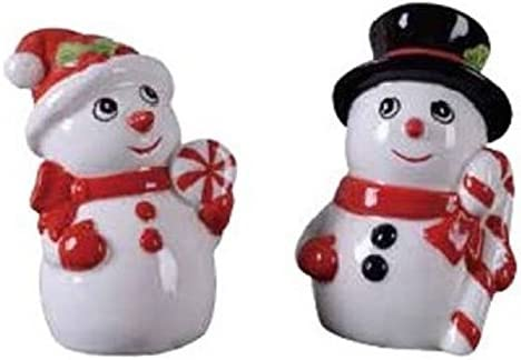Transpac - Our shop most popular Snowman Salt and Shakers 1 set All items in the store Pepper