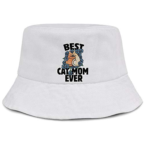 Funny Bucket Boonies Wide Fisherman Hats Best Cat Mom Ever Travel Caps Fashion Golf