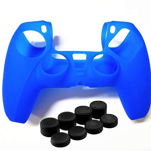 ciriQQ PS5 - Funda protectora de silicona con joystick para el pulgar y el pulgar se aplica a la consola S-o-n-y PlayStation 5, para mando inalámbrico DualSense PlayStation 5