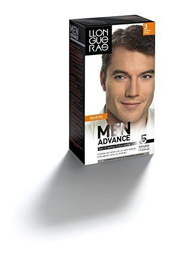 Llongueras Tinte, Gel Crema Colorante para Hombre, Tono 3 (