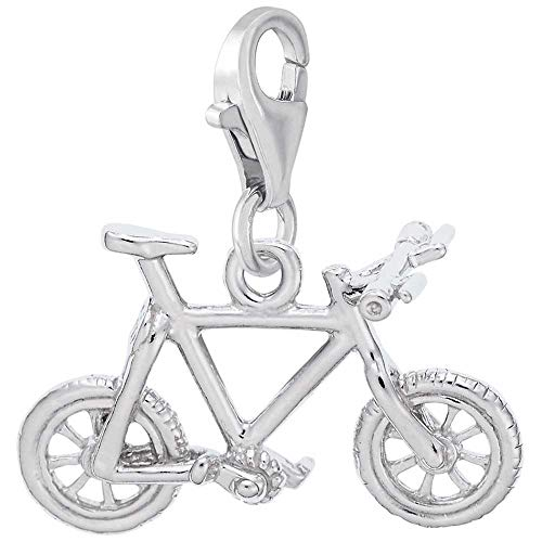 Rembrandt Charms Mountain Bike Charm with Lobster Clasp, Sterling Silver