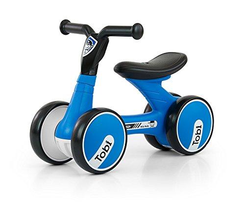 Porteur ultra léger (2,2 kg) et malléable avec roues 7 pouces disponible en 6 designs : Porteur Voiture pour enfants Bobbycar déjà adapté à partir de 18 mois, Couleur:Noir-Bleu