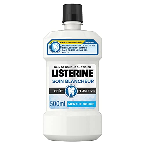 Listerine Bain deBouche Soin Blancheur goût Léger, 500ml