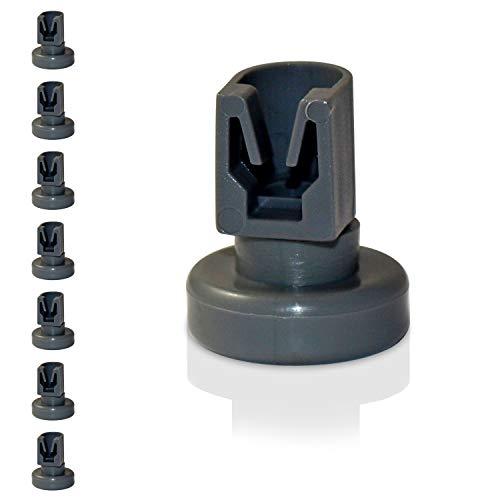 Universal Korbrollen für Spülmaschinen | 8 Stück Oberkorbrollen | geeignet für viele Spülmaschinen | 24 Monate Geld-Zurück Garantie! (Oberkorbrollen)