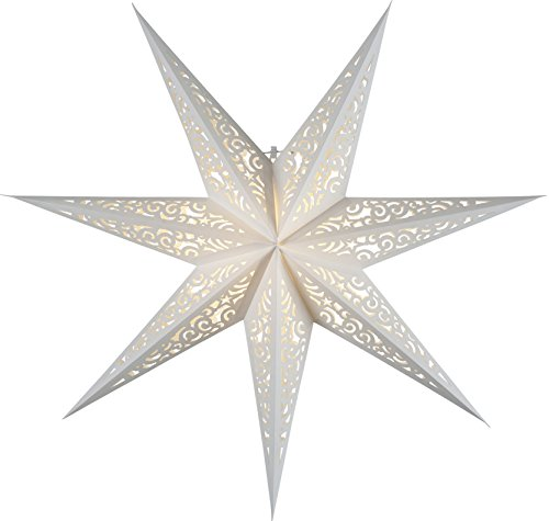 """Star 501-21, Papierstern""""Lace"""", 7 zackig, Papier, Weiß, 1.7 x 7.8 x 7.8 cm"""
