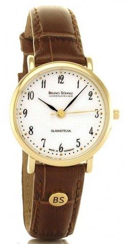 Bruno Söhnle Damen Analog Quarz Uhr mit Leder Armband 17-33045-921