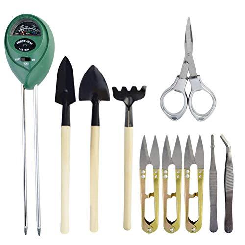 powerful mifengda 3 in 1 soil knife, moisture sensor / sunlight / bonsai soil pH meter, leaf cutter,…