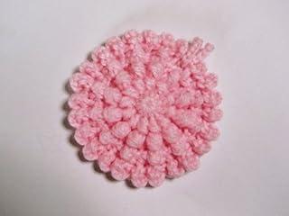 アクリル・エコたわし* 洗剤なしでピッカピカ~!(淡いベビーピンクです。) 抗菌・防臭*説明のページのご希望のお色でお作り致します~*^0^*~