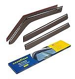 Goodyear Side Window Deflectors for Kia Soul 2014-2019 Hatchback, Tape-on Rain Guards, Window Visors for Cars, Vent Deflector, Vent Visor, Car Accessories, 4 pcs- GY003134