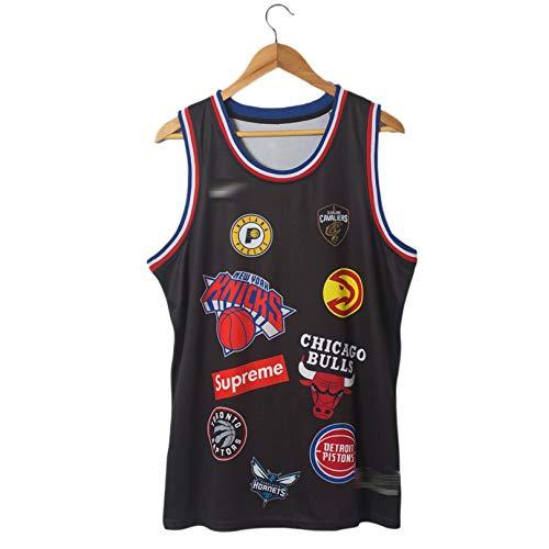 BUFJ Camisetas y Pantalones Cortos de Baloncesto para Hombres y Mujeres, Ropa Deportiva Transpirable y Pantalones Cortos de Baloncesto M A