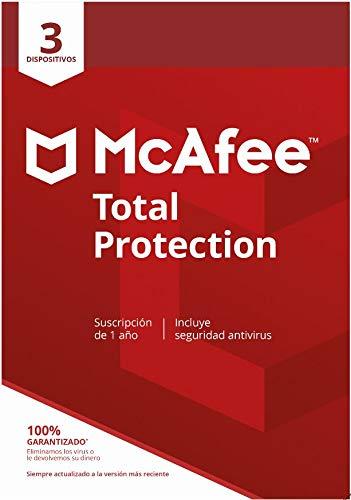 McAfee Total Protection 2020 | 3 Dispositivo | 1 Usuario | 12 Meses | PC/Mac/Android/Smartphones | Código de activación enviado por email