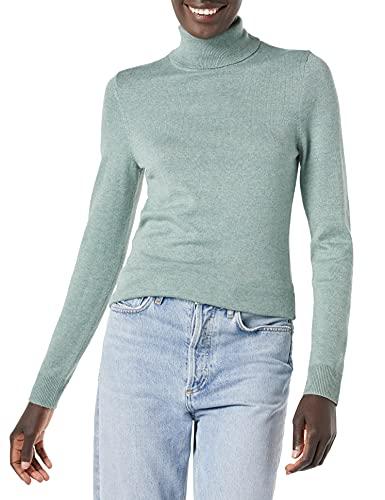 Amazon Essentials Lightweight Turtleneck Sweater Pullover, Salbeigrün Meliert, XXL
