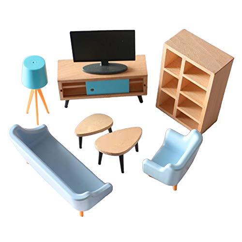 SM SunniMix Casa de muñecas Miniatura Sala de Estar Muebles Juego casa de muñecas Muebles casa habitación Accesorio
