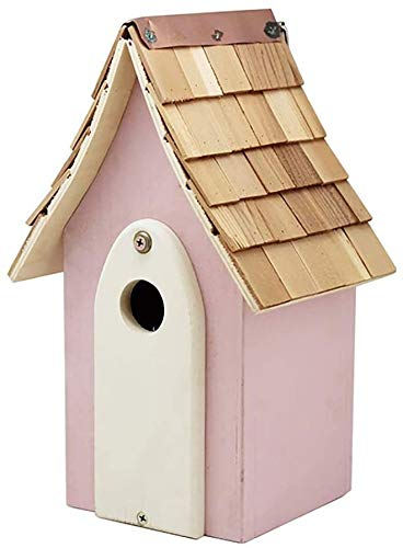 Bird House Creative Steeple Bois Birdhouse Cour Garden Cottages Bird House for Les Petites Oiseaux Cabine Volière for l'extérieur en Plein air for Les Petits Oiseaux Ornements de Jardin
