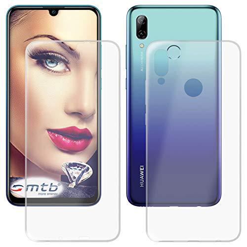mtb more energy® Schutz-Hülle Twin Eco (Vorder- & Rückseite) für Huawei P smart 2019 / Honor 10 Lite (6.21'') - 360 Grad R&umschutz - TPU Hülle Cover Tasche