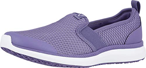 Vionic Women's Simmons Julianna Service Shoes- Ladies Slip Resistant Shoe with Concealed Orthotic Arch Support Dusty Purple 8.5 Medium US