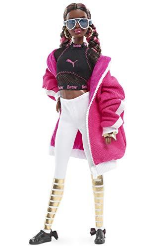 Barbie- Signature 50 Anniversario Puma Bambola da Collezione con Cappotto Rosa e Pantaloni Bianchi, per Bambini 6+ Anni, FJH70