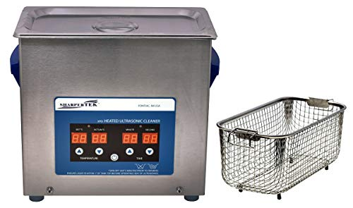 """Heated ULTRASONIC Cleaner with Sweep and Degas XPD360-6L 1.6 GAL. Tank Dimensions 11.75"""" × 6"""" × 6"""" (Tank L × W × Depth) - by SHARPERTEK USA."""