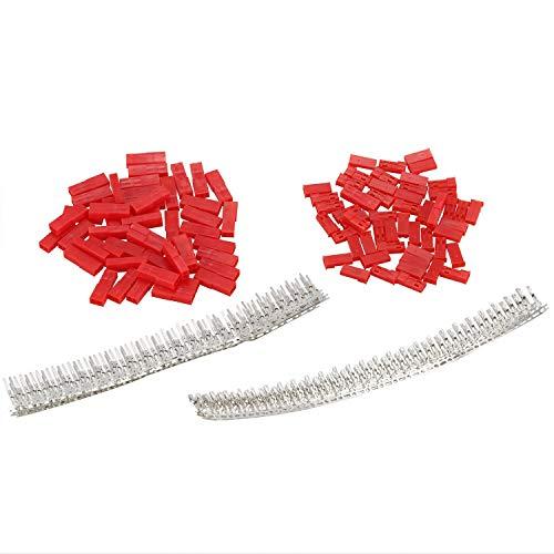 LQNB 300 StüCke (50 Satz) 2,54Mm JST SYP 2-Pin Buchse und Stecker Rot Steckergeh?Use Crimp Terminal Kit