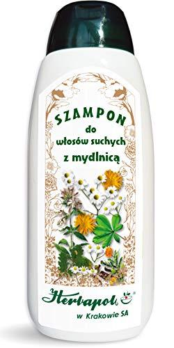 Shampoo für trockenes Haar mit Seifenkraut 200 ml, Herbapol Krakow