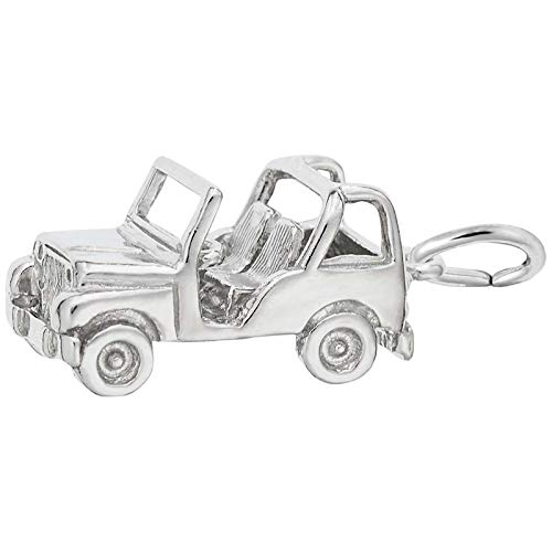 Rembrandt Charms Jeep Charm, Sterling Silver
