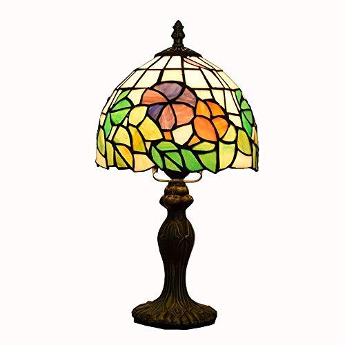 Jkckha nordic Tabla de color de la lámpara de cristal de América creativo Jardín Living comedor Dormitorio dormitorio de la lámpara Mesita de noche (7' Ancho 14' Altura) Lámparas de tabla Adecuado par