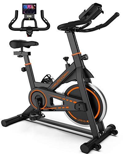 UREVO Indoor Cycling Bike Stationary,Exercise Bike Workout Bike,Fitness Bikes for Home Cardio Workout Bike Training Bike Black from UREVO