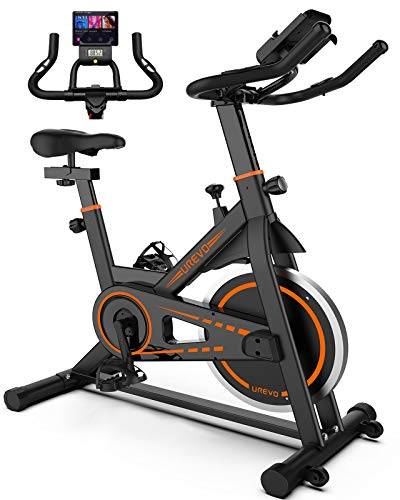 UREVO Indoor Cycling Bike Stationary,Exercise Bike Workout Bike,Fitness Bikes for Home Cardio Workout Bike Training Bike Black