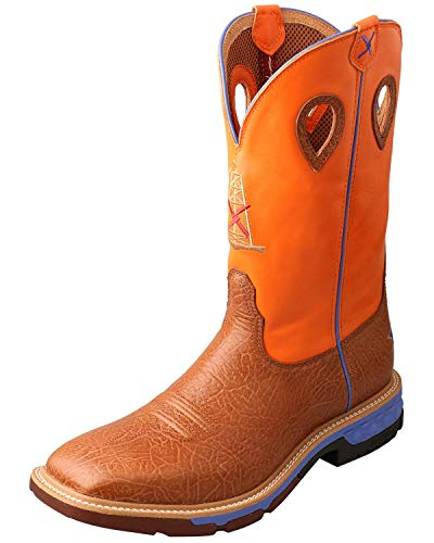 Twisted X Men's Cellstretch Western Work Boot Alloy Toe Tan 8.5 D
