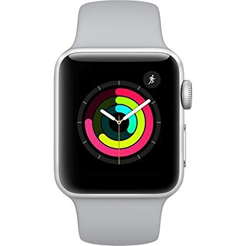 Apple Watch Series 3 Aluminum case 38mm GPS ONLY (Silver Aluminum Case with Fog Sport Band) (Renewed)