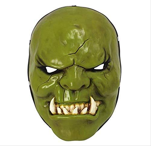Story of life Spiel Anime-Harz-Schablonen-Halloween-Horror Großmarschalls Orc Filme Maske Props Halloween-Party,Grün