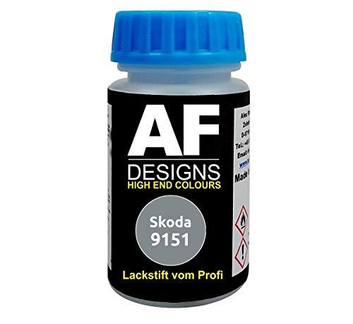Lackstift für Skoda 9151 Stone Grey schnelltrocknend Tupflack Autolack