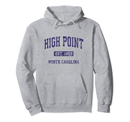 High Point North Carolina NC Vintage Athletic Sports Design Pullover Hoodie